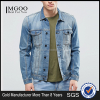 MGOO High Quality Vintage Washed Denim Jackets Womens Fashionable Clothing Your Own Brand