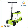 Promotion kids scooter 3 in 1 T-bar mini kick scooter with seat