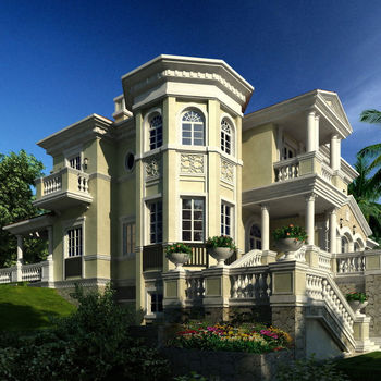 BISINI Luxury 3D house plan and rendering