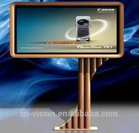 outdoor advertising light box model pole