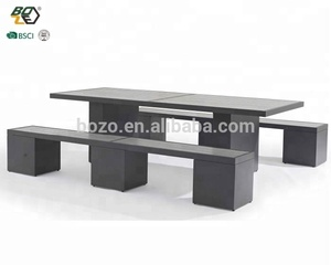 Outdoor restaurant furniture tables and chairs for restaurant garden aluminum dining table set