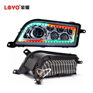 H4 Halo Ring 4x4 ATV/UTV LED Headlight for Polaris RZR 1000 with RGB Halo Speech Brightness Adjustment Bluetooth