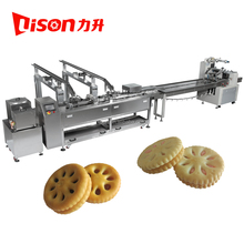 Automatic small biscuit making machine with biscuit packing machine