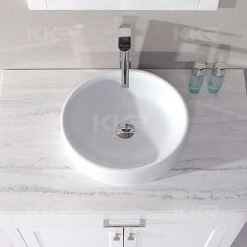 Dia 700mm table top stone resin small size wash basin