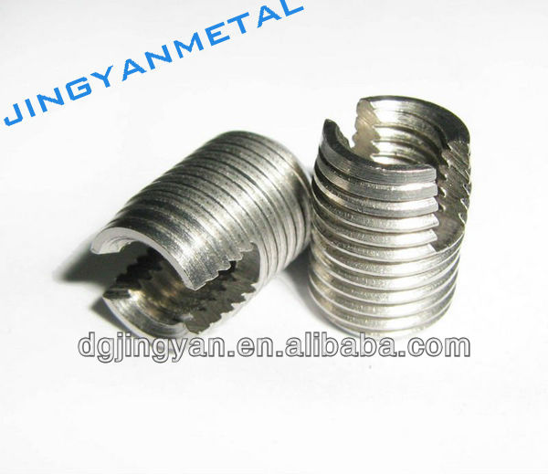 Stainless steel or aluminum threaded inserts for plastic