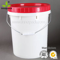 20 litre leakproof Screw Cap white food grade plastic bucket for engine oil storage
