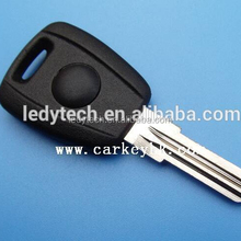 Fiat transponder car chip auto key case shell with GT15R blade