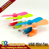 Wholesale Online Colorful TPE Android OTG USB Mini Fan