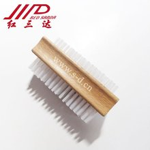 wood double-side nail brush