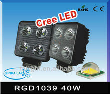 40w super bright cree led work light waterproof IP68 RGD1039 headlight relay for motorcycle