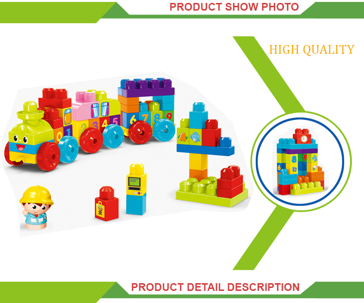 Hot selling digital train toys giant plastic building blocks
