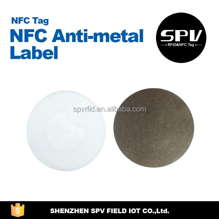 RFID HF MF S50 ISO14443A 13.56MHz NFC PET/PVC/CPC Anti-metal Tag for Anti-counterfeiting/Identification/Verification