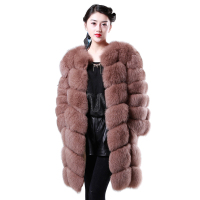 Brand new high-end mink fur without collar coat with high quality
