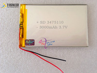 SD new battery tablet pc 3475110 3.7v 3000mah best rechargeable battery