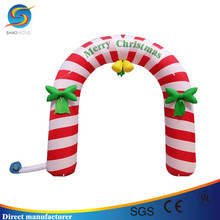 High Quality Colorful Inflatable Marry Christmas Gift Gate Arch