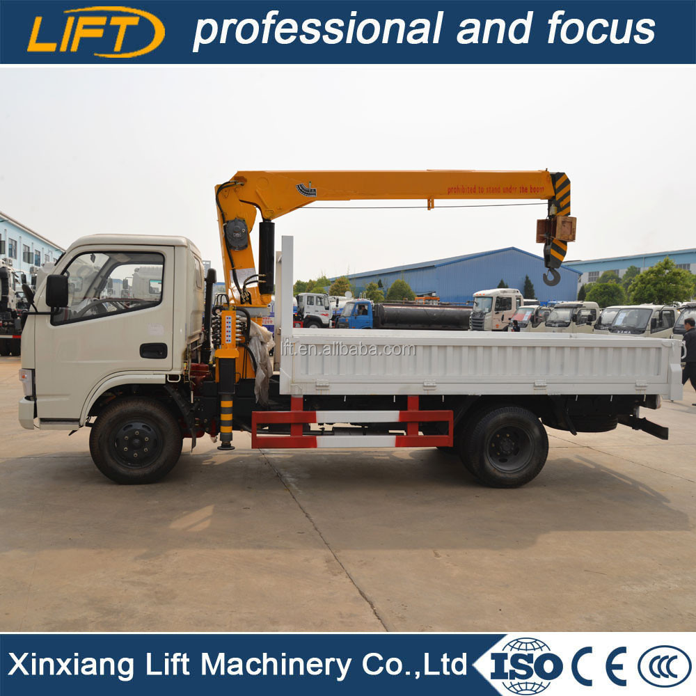 Heavy duty truck with brick crane 3.2 ton on promotion