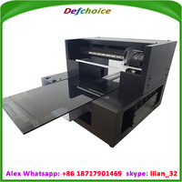 A3 size Digital Flatbed Printer Office Supply Product/Business Card/Pen/USB Portable Direct Ink Jet Printer