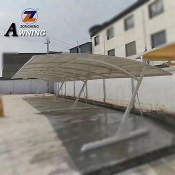 Factory price Polycarbonate Aluminum Single Double Sunshading Carport