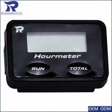 50 mm chrome bezel easy to use digital hour meter for motorcycle