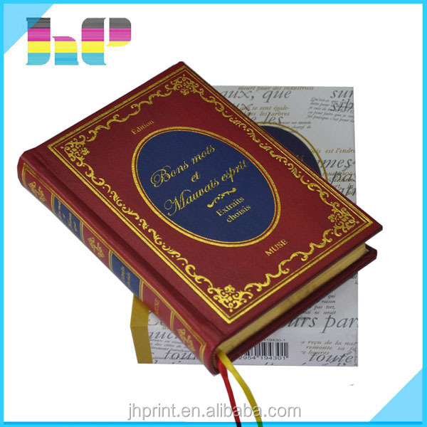 Superb quality professional book printing hardcover/case bound book printing