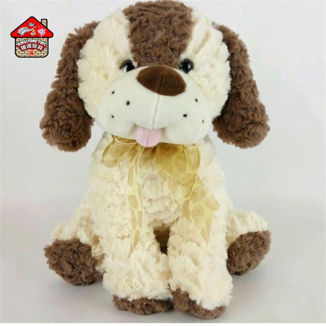 Kids big eye plush stuffed animal dog toy for sale
