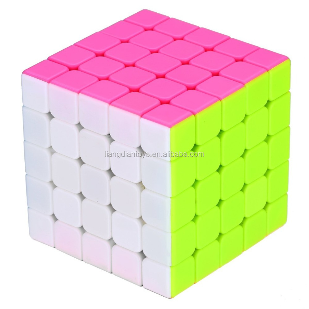 Speed Cube Stickerless Magic Cube Colorful