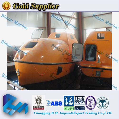 China Marine MED Approval Lifeboat For 25 Persons