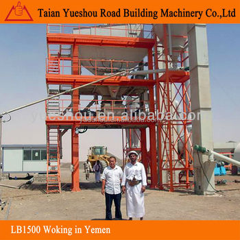 Asphalt Mixing Plant 120t/h working in Yemen