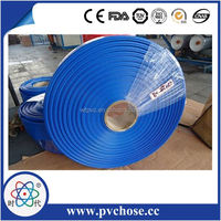 red,blue,yellow,black ,green SGS CERTIFICATION hig quality lays flat pvc hose,ay flat irrigation pipe,10 inch pvc lay flat hose