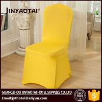 Jinyaotai fashional glitter spandex folding chair cover for table linens and chair covers