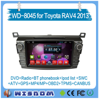 2016 new model Toyota RAV4 2013 gps navigation car dvd player with gps double din car stereo android system support wifi swc atv