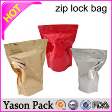 Yason s3 Gram Red berry Bag With Zipper Lock Dog Food Packaging Bag Hanging Mini grip sealed plain