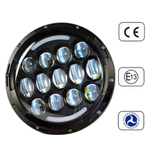 "2015 promotional USA popular for JEEP wrangler headlight 7"" led headlight Motorcycle with Angel eyes HIGH / LOW Beam"