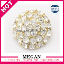 2017 New Design Dome Shaped Button with Rhinestones