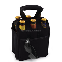 Insulated Neoprene Wine Carrier Tote Bag