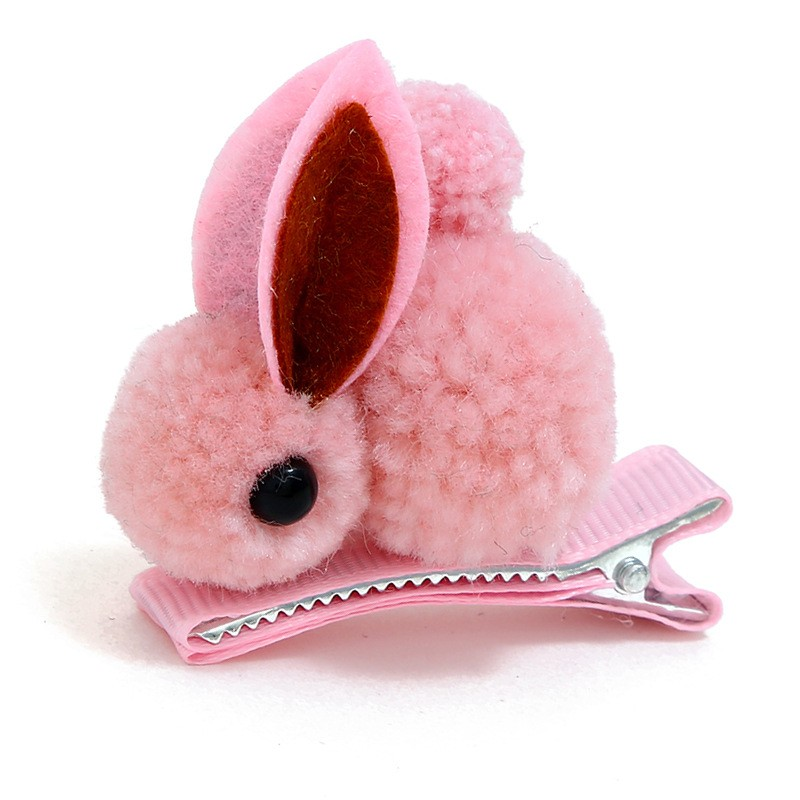China Supplier Bunny <strong>Hair</strong> Clip Kids Rabbit Girls Pink Hairpin Baby <strong>Hair</strong> <strong>Accessories</strong> 2019