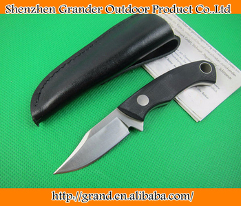 OEM mini tactical survival knives fixed blade hunting knife outdoor tool hand 5Cr13Mov 57HRC blade G10 handle 1586