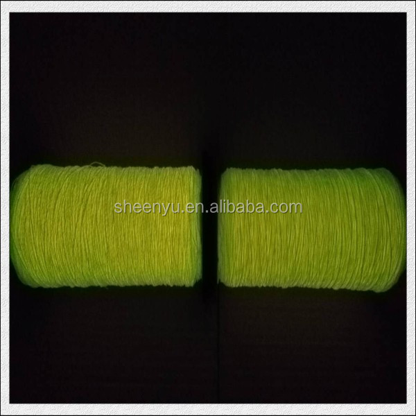 High tenacity glow in the dark thread and yarn