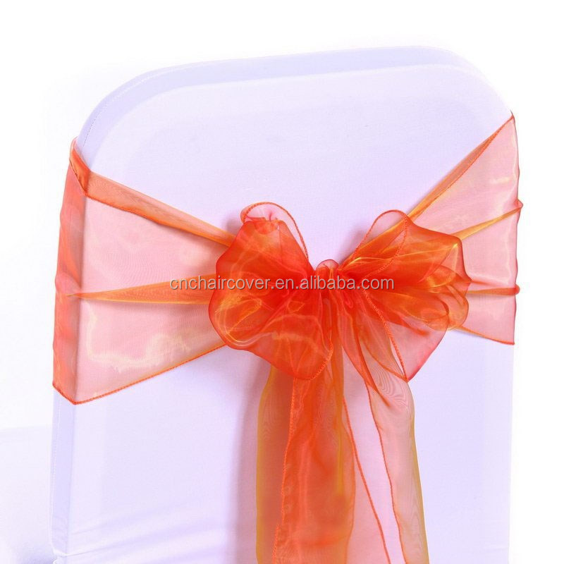 Factory Sale Organza Chair Sashes For Wedding Decoration