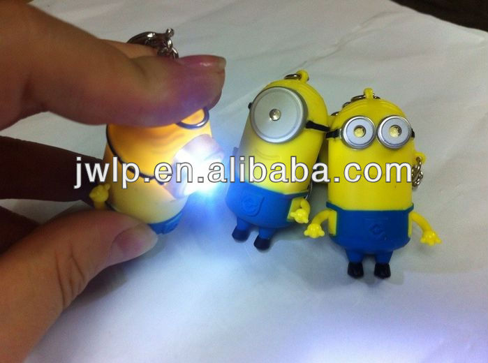 3D animal cute light keyholders-Despisable Me 2 charactor