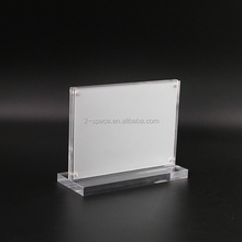 Horizontal Clear Sign Holder for Hotel Vertical Price Poster Display Holder A5/A6 Acrylic Menu Holder