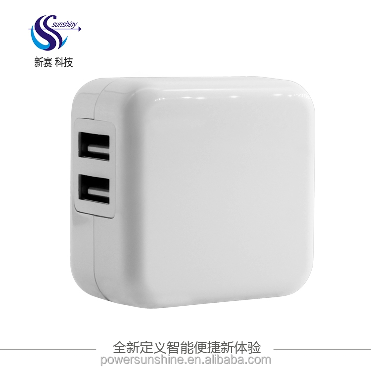 Top selling dual usb 2.1a home wall charger adapter folding us plug mobile phone wireless charger for iphone