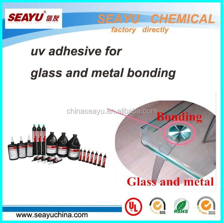 uv3320- high strength construction uv glue for glass to metal bonding