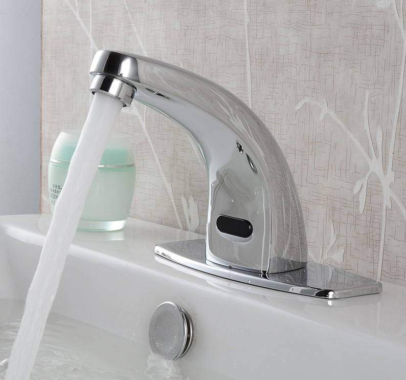 modern cheap discount bathroom automatic water faucet solenoid valve