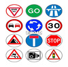 high quality cheap price printed factory traffic road plastic security yard sign