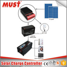 Competitive Price MPPT Air cooling Solar charge controllers 45A 60A high quality with REM and BTS (Battery Temperaturer sensor)