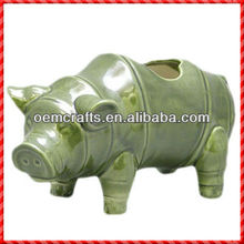 2013 Fashion animal of cute pig-Tall Candle Holders