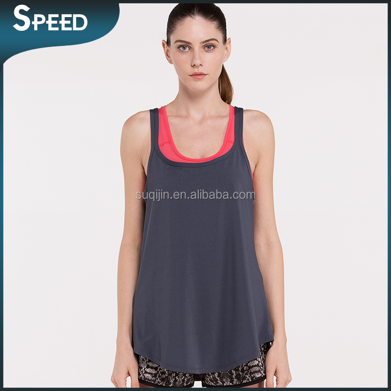 long length muscle tank tops Wholesale Top selling breathe freely quick dry top