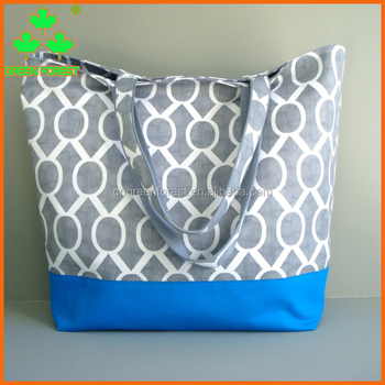 large cotton canvas beach weekender tote bag