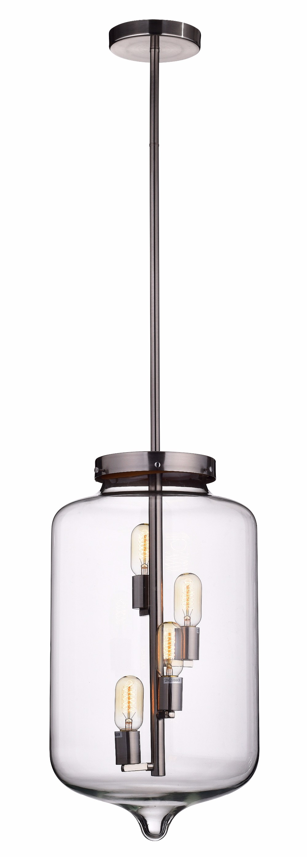 American style loft vintage dining light modern Industrial chandelier glass pendant lamp